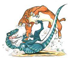 Anuj vs sabertoothed cat by marimoreno on DeviantArt