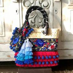 Beach Basket, Fiesta Party, Goodie Bags, Cloth Bags, Handmade Bags, Bohemian Jewelry, Decorative Items, Fashion Bags, Minis
