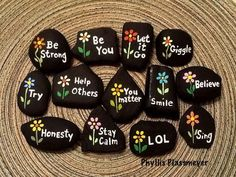 Painted Rocks Ideas Best Rock Art Designs Garden Ideas These incredible painted rocks ideas will be all the inspiration you'll need to make a beautiful rock garden! From kids projects to intricate designs! Rock Painting Patterns, Rock Painting Ideas Easy, Rock Painting Designs, Painting For Kids, Diy Painting, Art Designs, Design Ideas, Pebble Painting, Painting Videos