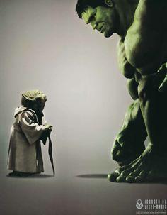 Yoda meets The Hulk