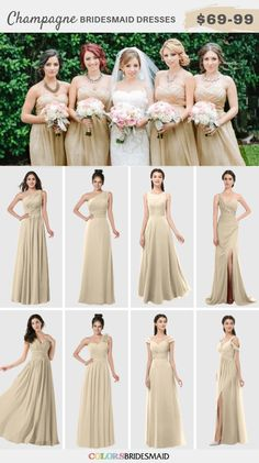 Champagne and Burgundy Wedding-Bridesmaid Dresses, Bouquets and Cakes - ColorsBridesmaid Cream Bridesmaid Dresses, Cream Bridesmaids, Inexpensive Bridesmaid Dresses, Wedding Bridesmaids, Wedding Dresses, Beautiful Red Hair, Beautiful Dresses, Groom And Groomsmen Suits, Wedding