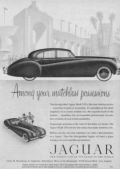 Vintage Jaguar Mark VII Ad 1952