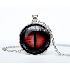 Dragon Eye pendant red Dragon eye necklace Dragon eye jewelry for men... ($15) ❤ liked on Polyvore featuring jewelry, necklaces, bezel pendant necklace, chain necklace, chain jewelry, red necklace and red pendant