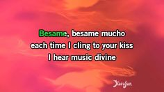 Karaoke Besame Mucho (English vocal) - 1940s Standards *
