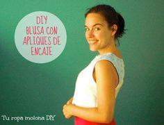 DIY BLUSA CON APLIQUES DE ENCAJE