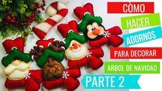 🌟 Adornos Para Decorar El ÁRBOL De NAVIDAD, GUIRNALDAS 🎄 - (Parte 2) -DI... Christmas Decorations, Christmas Ornaments, Holiday Decor, Christmas Things, Bowser, How To Make, Crafts, Youtube, Holidays
