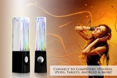 Dancing Water Speakers!  Connect to Smart Devices,   MUST-SEE Video!