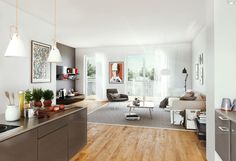 Diese schöne Eigentumswohnung ist mit stilvollem Eichenholzparkett in allen Wohn- & Schlafräumen ausgestattet.