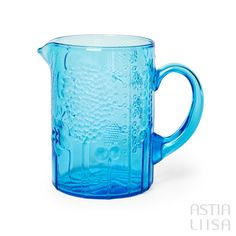 Nuutajärvi Flora Light Blue Pitcher 1,2 l, designed by Oiva Toikka. Find out more about Nordic vintage from Finland on our website 🔎 www.astialiisa.com⠀ 🌍 Free shipping on orders over 50 €! #nordicdishes #nordicvintage #vintagedishes #Finnishdesign #oivatoikka #toikka #Iittala #nuutajärvi #glass #marimekko #scandinavianvintage #finnishvintage #nordicvintagehome #finnishhomes #nordichome #nordichomes #nordicdishes #nordicvintage #vintagedishes #flora
