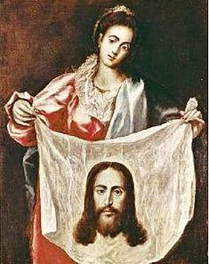 size: Giclee Print: Veronica and the Holy Veil Art Print by El Greco : Fine Art Canvas Paper, Canvas Art, St Veronica, Art Institute Of Chicago, Sacred Art, Art Plastique, Ciel, Unique Art, Find Art