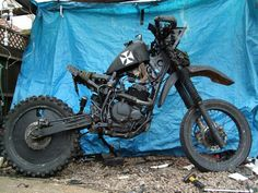 """Some people get into riding on the cheap. What I like about """"rat bikes"""" is this: when there are tons of high dollar custom bikes at a show, everyone flocks to the grungy rat bike!"""