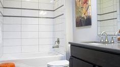 Image result for darker grout with white subway tile