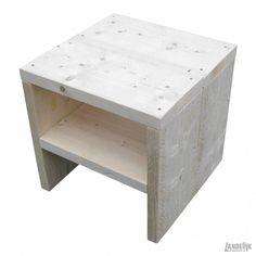 Steigerhouten hoofdbord met nachtkastjes