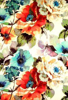 Jardin Fabric (Poppy) | Art & Soul Fabric Collection | James Dunlop Fabrics