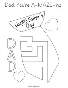 Color the Tie Coloring Page - Twisty Noodle   Fathers day ...