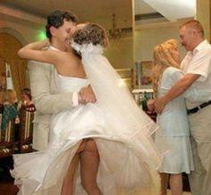 No Underwear Wedding Fail