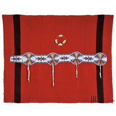 Blackfoot Trade Blanket with Beaded Hide Strip, c. late 19th century. | Auction 2879B | Lot 103 | Sold for $30,750