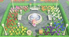 My rainbow park/garden ❤️ : AnimalCrossing