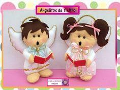 ♥♥ ANGELITOS DE FIELTRO♥♥- CREACIONES mágicas♥♥ - YouTube