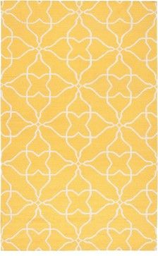 Frontier Rectangle Sunshine Yellow/White Area Rug - contemporary - Rugs - RugPal