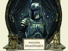 """The best-selling Shakespearean """"Star Wars"""" parodies continue with """"William Shakespeare's The Clone Army Attacketh: Star Wars Part the Second."""" CNET doth reveal an exclusive look at the book cover. Shakespeare Love, Look At The Book, Geek Out, Iron Man, Nerdy, Two By Two, Geek Stuff, Star Wars, Darth Vader"""