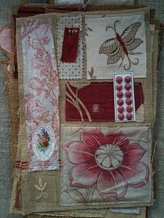 small fabric collage by Kaari Marie from French General