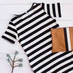 This striped dress is a wardrobe essential.
