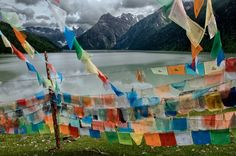 Colorful Prayer Flags Tibet, 2004 by Steve McCurry via chrisbeetlesfinephotographs.com