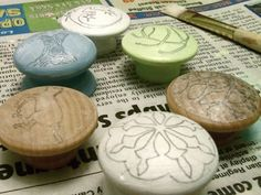 Tutorial: Hand Painted Wooden Knobs - Michele Made Me