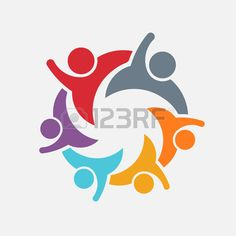 We are a Family of 6. Parent and children. Vector Logo Stock Vector - 50748986