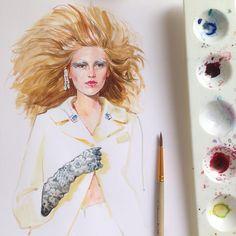 """""""@maisonmargiela @jgalliano #margiela #maisonmargiela #johngalliano #galliano #fashion #fashionsketch #fashionillustrator #fashionillustration…"""""""