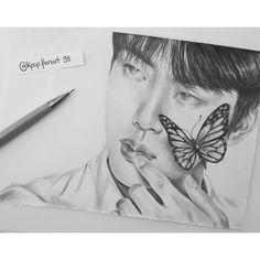 Bts Drawings, Kpop, Bts Fans, Pencil Art, Taehyung, Sketches, Fan Art, Boys, Pencil Drawings