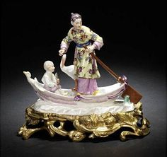 Meissen Chinoiserie with ormolu mount 1750