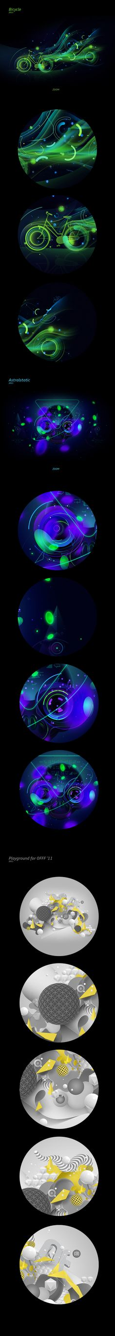 Fresh Abstract by Cyrill Clunev, via Behance