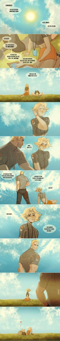 Mercy 76 I don't ship it but I might have too ❤️❤️ Overwatch soldier and mercy