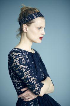 navy blue lace, erdem