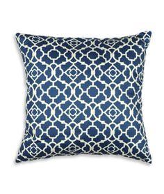 "Waverly 16"" x 16"" Lovely Lattice Lapis Decorative Pillow - $20.15 | onlinefabricstore.net"