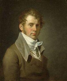 John Vanderlyn (American Neoclassical Painter, 1775-1852) Self Portrait