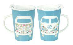 Campervan Gift - VW Flower Patterned Campervan Travel Mug, £8.95 (http://www.campervangift.co.uk/vw-flower-patterned-campervan-travel-mug/)