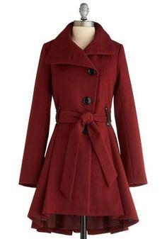 Casaco e vermelho... Perfeito