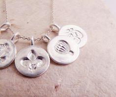 Fine Silver Mini Charm Necklaces. #silver #jewelry