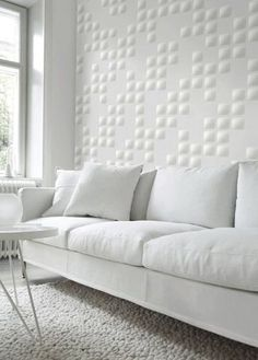 Wall Panels Covered In Wallpaper To Decorate A Rental Home