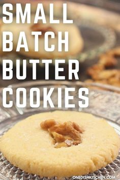 An easy recipe for melt in your mouth butter cookies! These cookies are perfectly sweet with slightly crisp edges. They can be enjoyed simply or topped with nuts or dipped in chocolate. Such a versatile recipe and they can be ready in just 20 minutes! Butter, Cookies, Crack Crackers, Biscuits, Cookie Recipes, Butter Cheese, Cookie, Biscuit