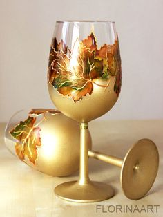 Wine glasses Personalized wedding glasses Hand di Florinaart