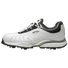 SALE - Oakley Semi-Auto Golf Cleats Mens White Leather - Was $120.00 - SAVE $48.00. BUY Now - ONLY $71.99