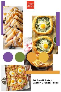 Need Easter brunch ideas for a smaller celebration? These delicious brunch recipes serve four folks and are just as tasty and celebratory as your traditional favorites. Brunch Ideas, Brunch Recipes, Breakfast Recipes, Recipe For 1, Recipe Of The Day, Savory Waffles, Puff Pastry Recipes, Tasty, Yummy Food