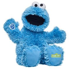 Build a Bear Sesame Street Cookie Monster Red Gift Box, Blue Gift, Cookie Monster Party, Sesame Street Cookies, Party Stores, Build A Bear, Peanuts Gang, Baby Toys, Stuffed Animals