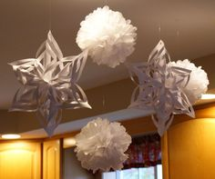 Christmas Decorations Snowflakes Snowballs by MyScrapbookStudio, $25.00