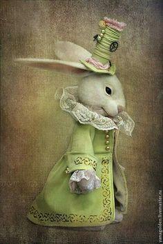White Rabbit Alice In Wonderland Needle Felted White Rabbit Needle Felted Bunny, Rabbit from Alice, Felt Rabbit, Art Doll White Rabbit Alice In Wonderland, Lapin Art, Rabbit Art, Bunny Rabbit, Felt Bunny, Bunny Art, Vintage Easter, Whimsical Art, Felt Animals