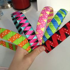 Woven headbands :) Super cute and super easy to make